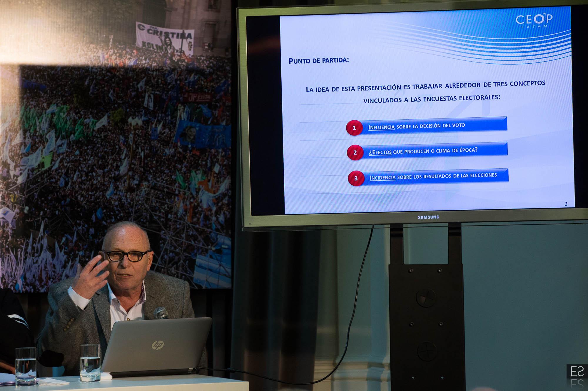Se realizó la charla sobre Elecciones y encuestadoras con  Bacman, Rouvier y López