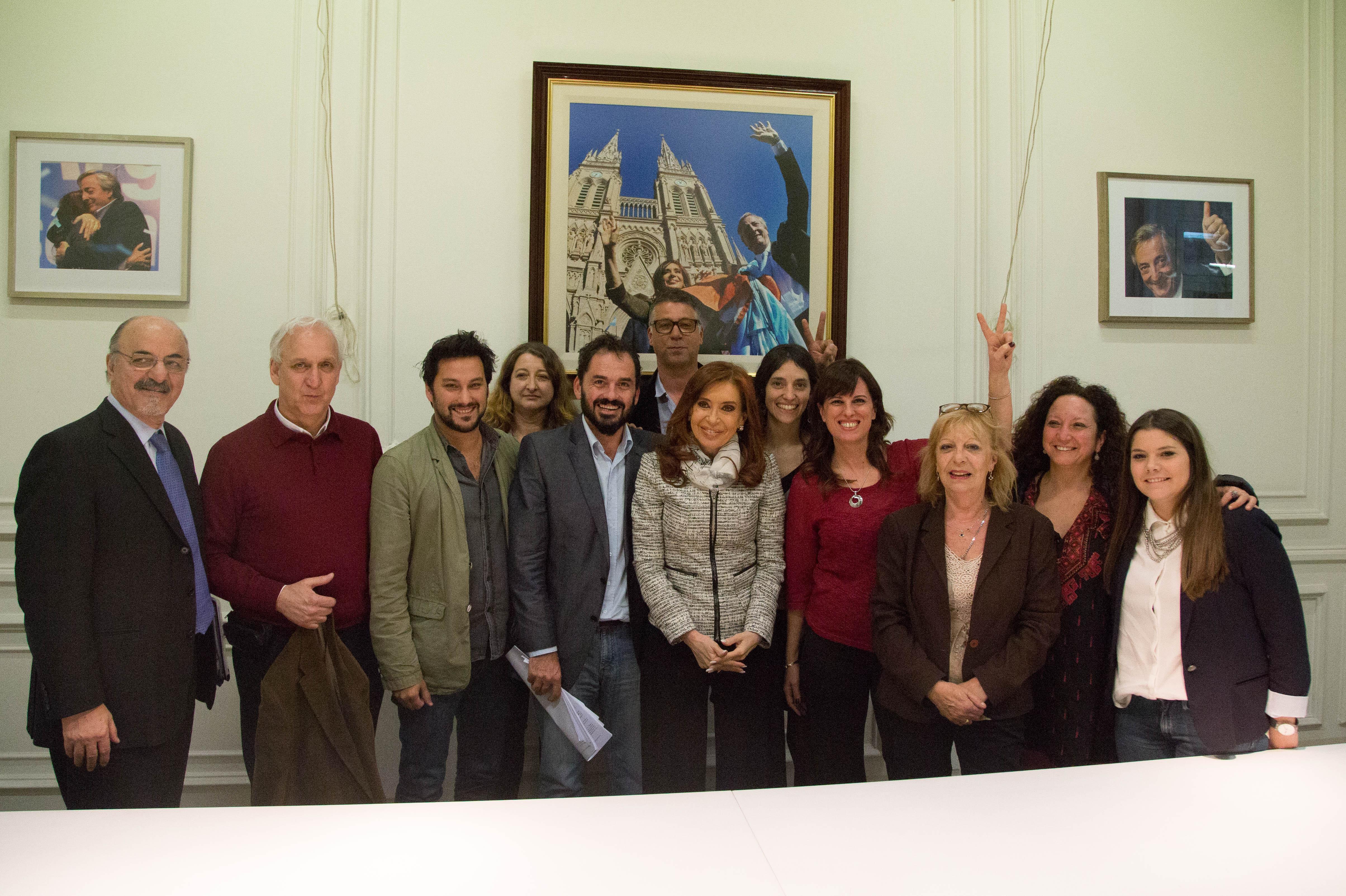 Cristina Kirchner junto a legisladores de la CABA