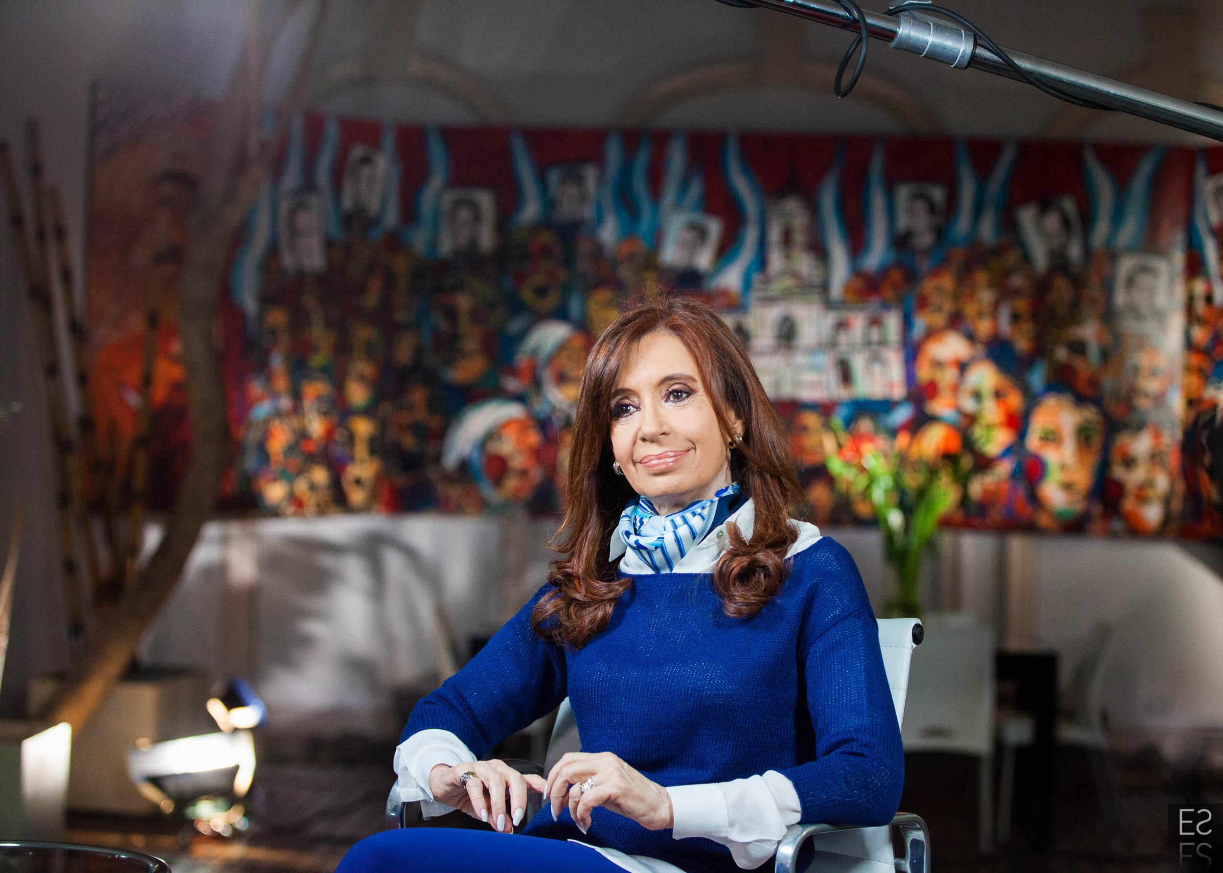 Entrevista a Cristina por C5N, desde el Instituto PATRIA.