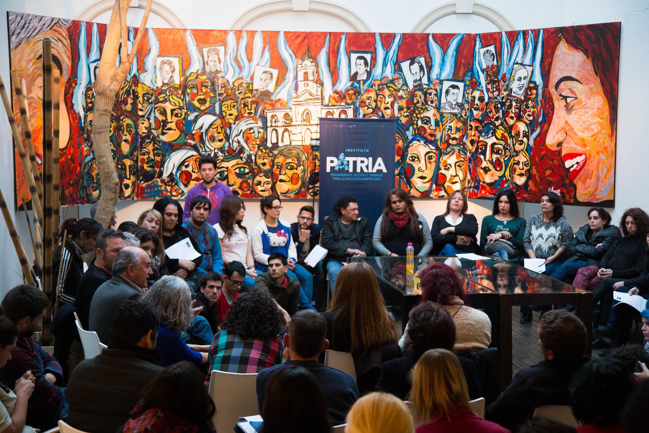El Instituto Patria recibió a referentes de organizaciones de diversidad sexual