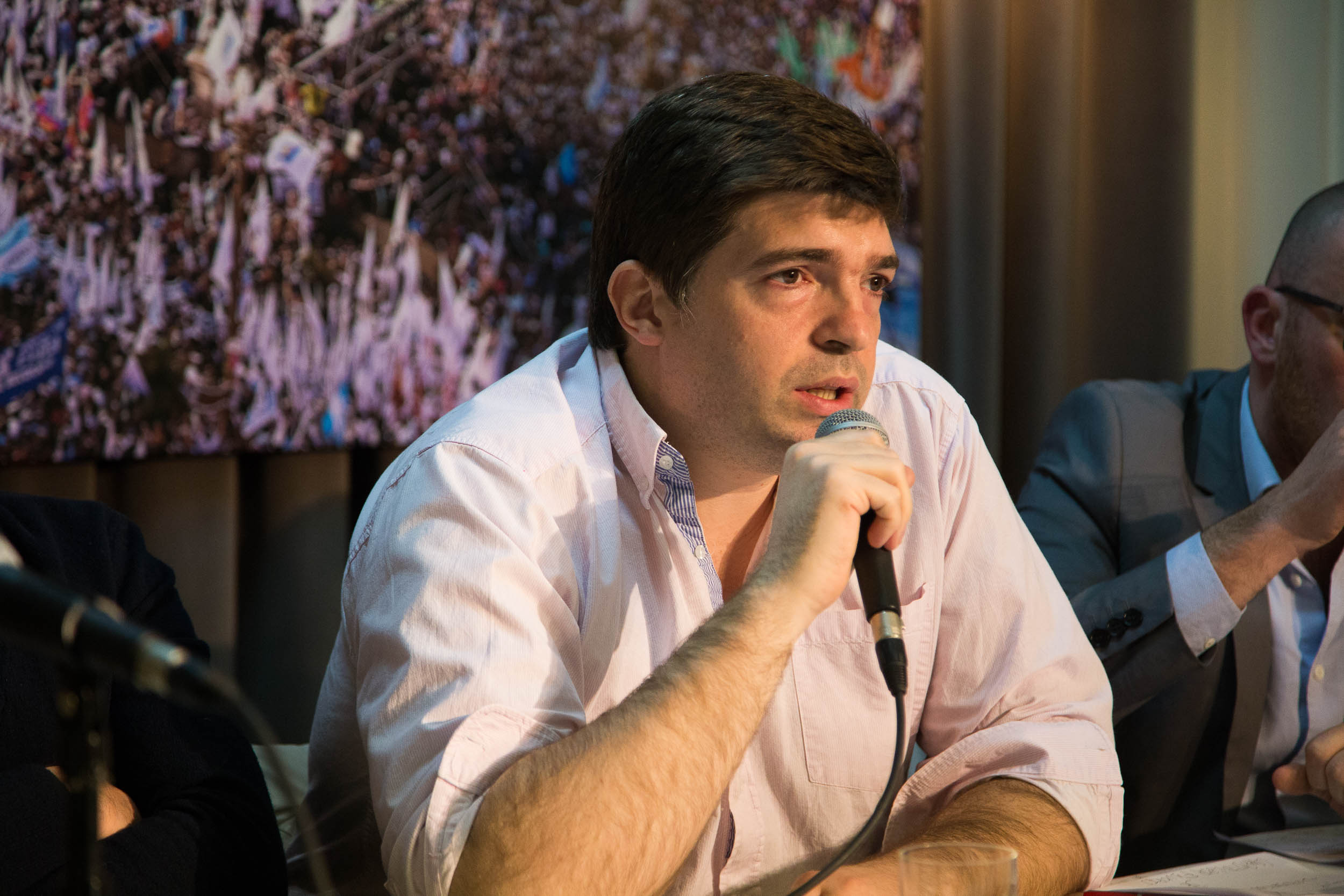 """Leo Bilanski: """"Con las corporaciones no se negocia""""."""