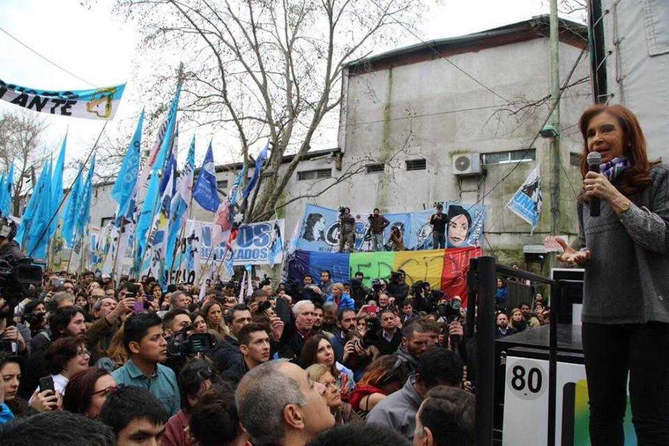 Cristina Kirchner recorrió el Barrio Carlos Mugica, en la Villa 31