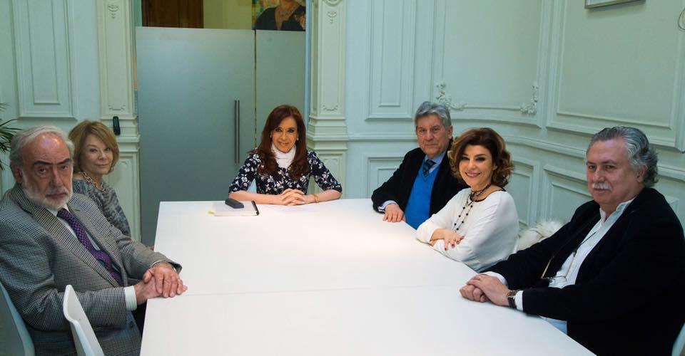 Cristina se reunió con Barcesat, Luis Alén y miembros de la familia Papaleo
