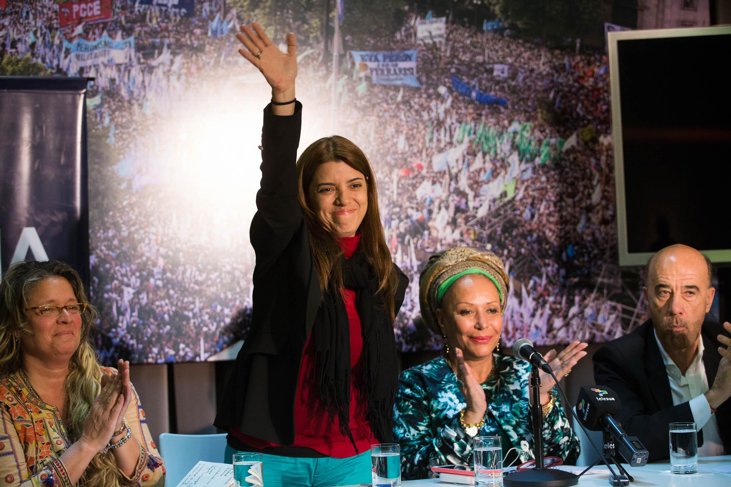 Patricia Villegas y Piedad Córdoba encabezaron una charla en defensa de Telesur