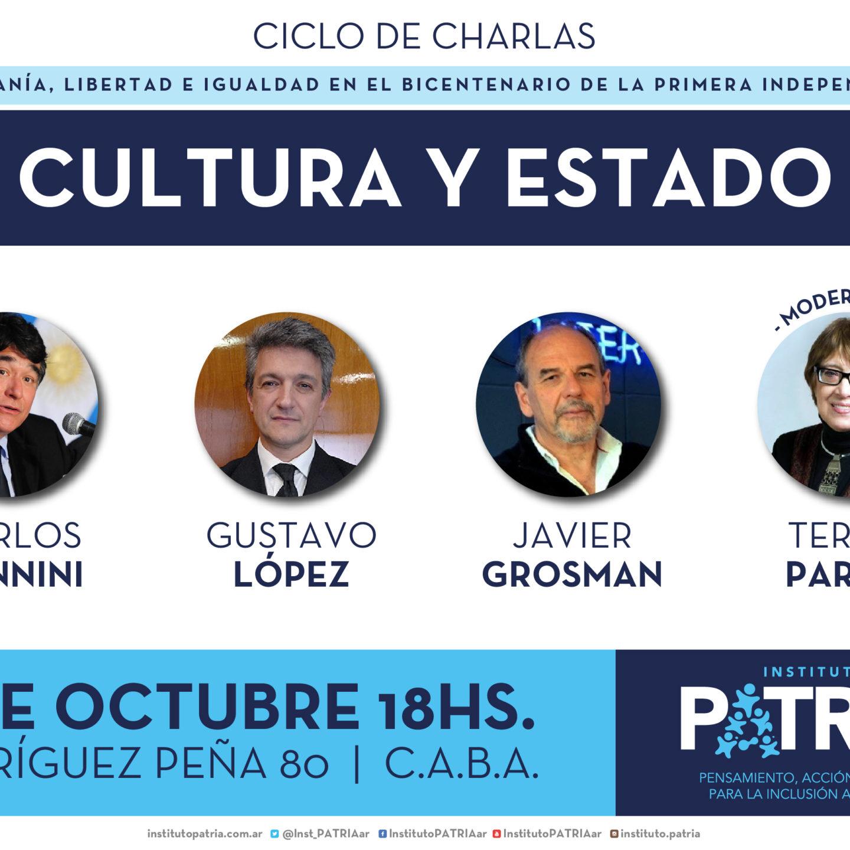 «Cultura y Estado»: Carlos Zannini, Gustavo López y Javier Grosman con la coordinación de Teresa Parodi