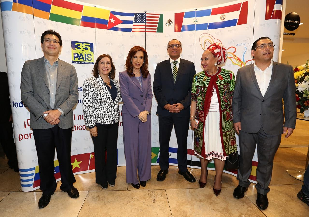 Disertación de Cristina Kirchner en el ELAP en Ecuador