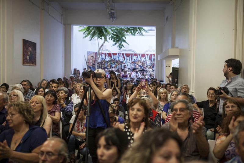 Presentación de Hamartia en el Instituto Patria junto a Eugenio Zafaroni, Estela de Carlotto, Carlos Barragan, Federico Bernal.- 15/11/2016