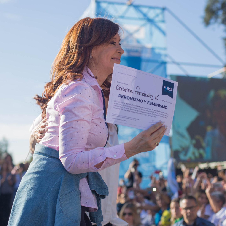 Acto de mujeres con Cristina a 70 años del Voto Femenino