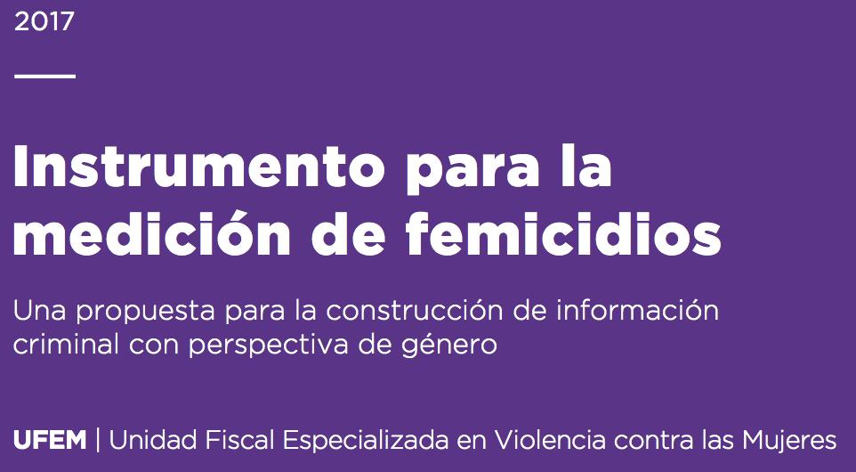 Instrumento para la medición de femicidios de la UFEM