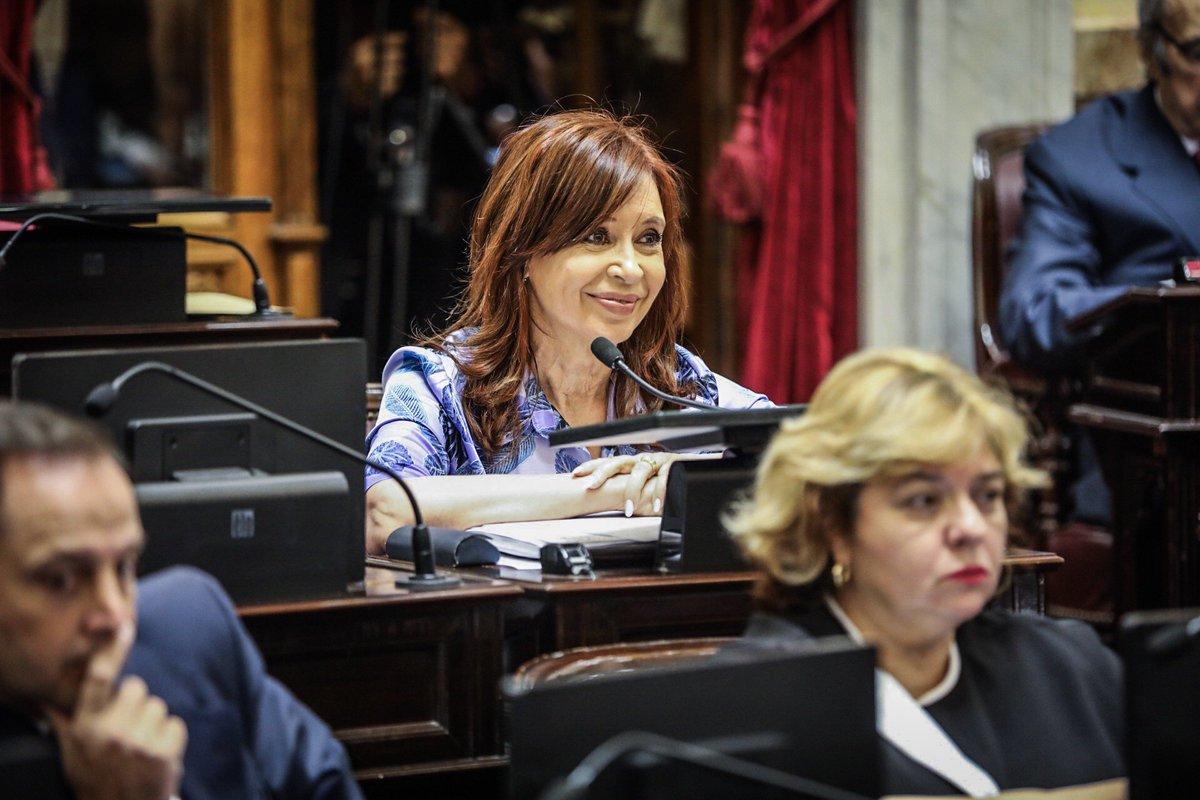 Cristina Kirchner en el Senado: «El Gobierno cercena la representación popular»