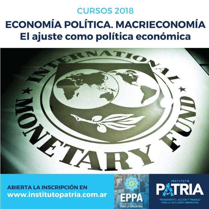 Curso de economía política MACRIECONOMÍA. El ajuste como política económica.