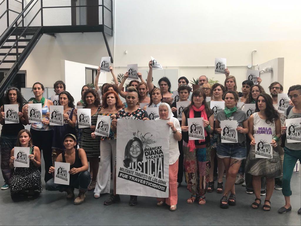 Lunes 12 de Marzo. Convocatoria en apoyo al juicio por el travesticidio de Amancay Diana Sacayan