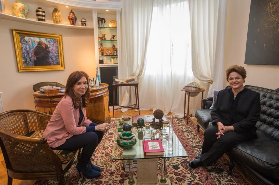 Cristina Fernández de Kirchner recibió a Dilma Rousseff: «Hablamos sobre Lula y el ataque a los gobiernos populares»