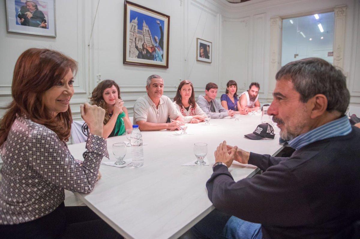 Cristina Kirchner se reunió con trabajadores despedidos del INTI