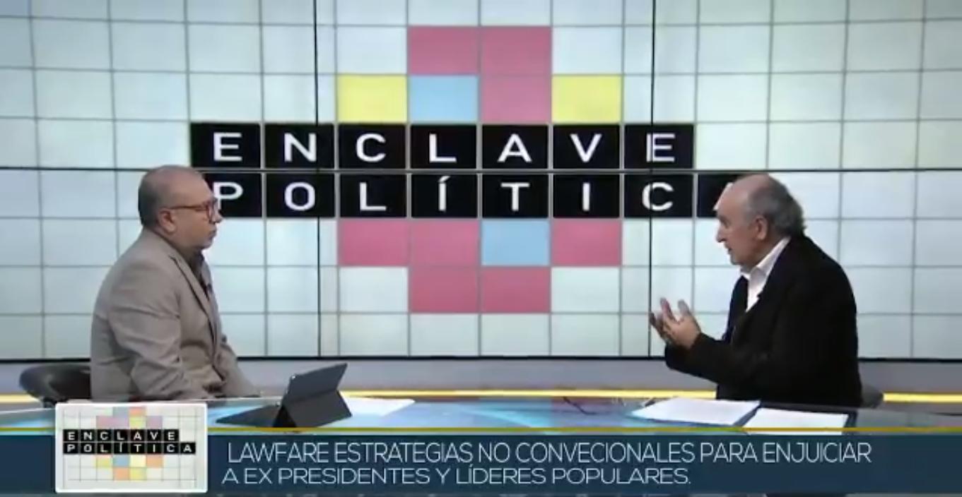 Oscar Parrilli sobre la judicialización de la política en Telesur