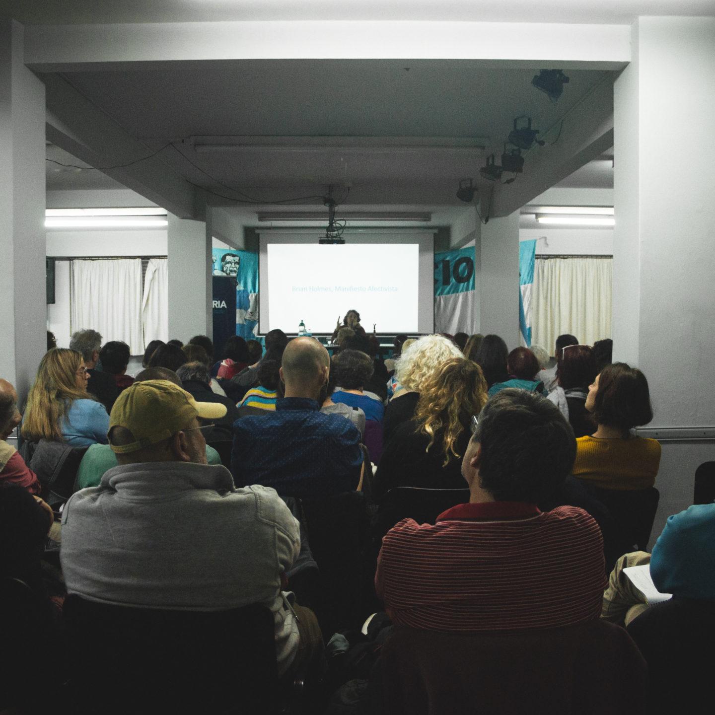 Rita Cortese y Kekena Corvalán en el inicio del Seminario Gestión Cultural y Políticas del Deseo