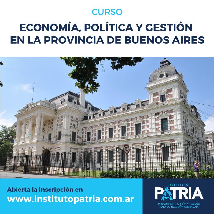 Curso Economía, Política y Gestión en la provincia de Buenos Aires