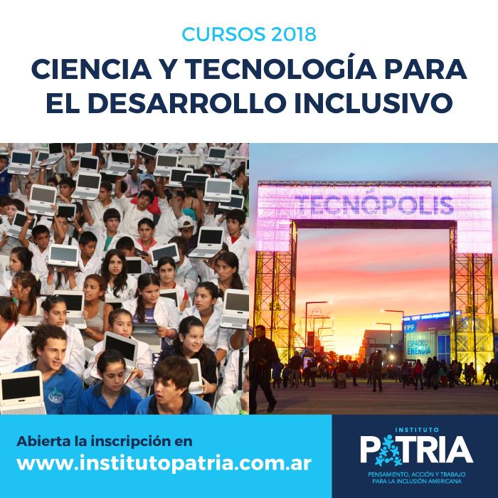 Curso Ciencia y Tecnología para el Desarrollo Inclusivo