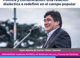 """Viernes 12 de octubre. Clase abierta de Carlos """"Chino"""" Zannini en Córdoba"""
