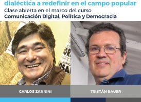 Carlos Zannini y Tristán Bauer en Rosario