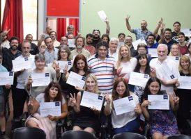 Entrega de certificados en Rosario