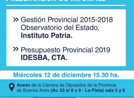 Presentación de informes Observatorio del Estado Provincial