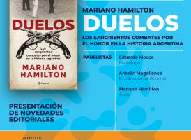 """Viernes 26/4: Presentación del libro """"Duelos"""", de Mariano Hamilton"""