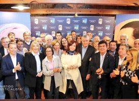 Cristina Kirchner participó en una reunión del Partido Justicialista