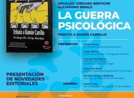 Viernes 28/6: Presentación del libro «La guerra psicológica», de Osvaldo V. Bertiche y Alejandro Braile