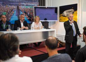 Parrilli encabezó la apertura del último seminario de 2019