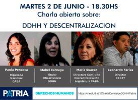Charla: Derechos Humanos y descentralización