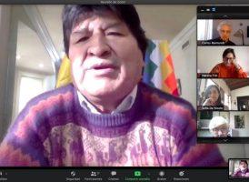 Evo Morales en el Instituto Patria