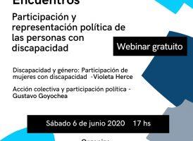 Ciclo de encuentros:  Participación y representación política de las Personas con Discapacidad