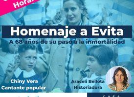 Casa Patria Neuquén homenajea a Evita