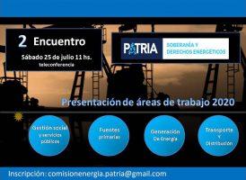 Comisión Soberanía y derechos energéticos: segundo plenario