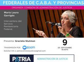 Charla con la Dra María Laura Garrigós