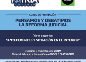 Curso de formación: «Pensamos y debatimos la reforma judicial»