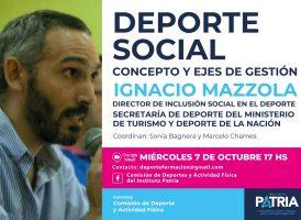 Deporte Social, concepto y ejes de gestión