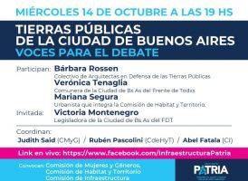 Tierras Públicas de la Ciudad de Buenos Aires, voces para el debate