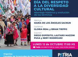 Conversatorio: Día del Respeto a la Diversidad Cultural. Abordaje histórico y evolución de los términos.