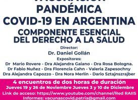 Seminario: Vacunación pandémica COVID-19 en Argentina