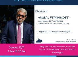 Conversatorio con Aníbal Fernández, el papel de la política en tiempos de pandemia