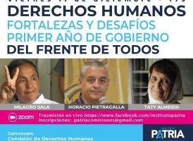 Derechos Humanos: Fortalezas y Desafíos en el primer año de gobierno del Frente de Todos