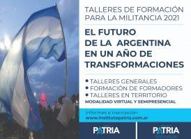 TALLER GENERAL DE FORMACIÓN PARA LA MILITANCIA 2021