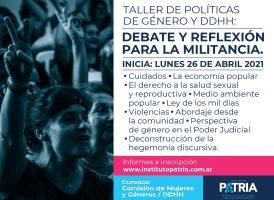 Taller de Políticas de Género y DDHH: debate y reflexión para la militancia.