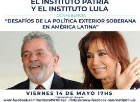 Firma del convenio marco de cooperación entre el Instituto Patria y el Instituto Lula