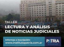 TALLER: LECTURA Y ANÁLISIS DE NOTICIAS JUDICIALES