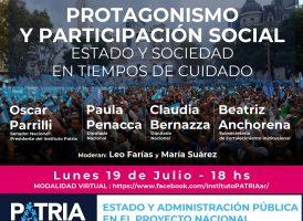 Protagonismo y participación social en tiempos de cuidado
