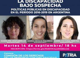 La discapacidad bajo sospecha. Políticas públicas en discapacidad en el período 2016-2019 en Argentina