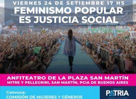 Feminismo popular es justicia social